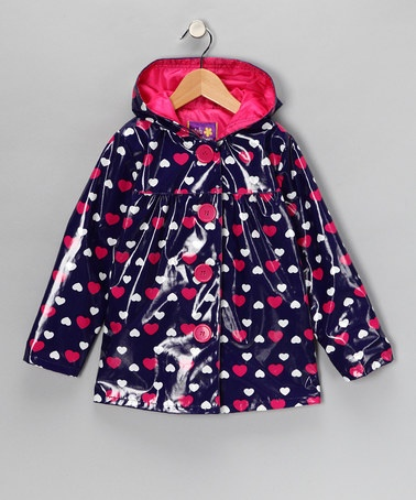 Take a look at this Navy Heart Raincoat - Infant, Toddler & Girls by Pink Platinum & iXtreme on #zulily today!