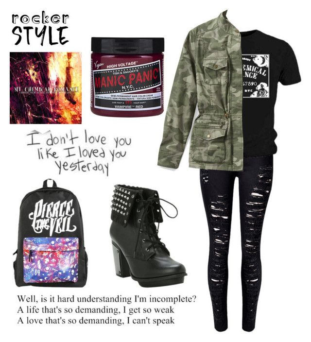 """The way of the emo/ fanfic no.2"" by gabethetransboy on Polyvore featuring WithChic, L.L.Bean, rockerchic and rockerstyle"