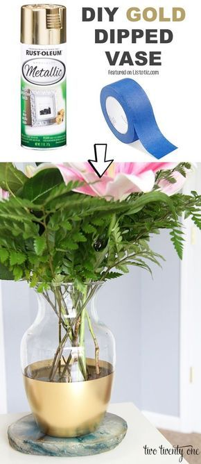 #13. Renew outdated vases with spray paint! -- 29 Cool Spray Paint Ideas That Will Save You A Ton Of Money