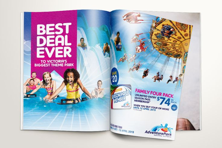 Double page spread advert for Adventure Park – Advertising Associates