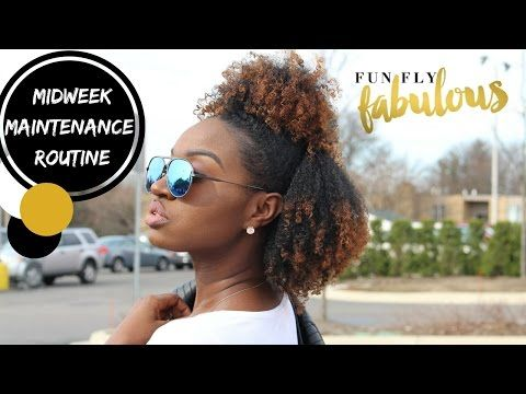 Midweek Natural Hair Routine | Fun Fly Fabulous March Box - YouTube