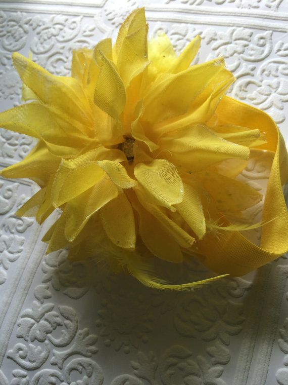 Yellow headband yellow baby headband big headband by BazzyBears