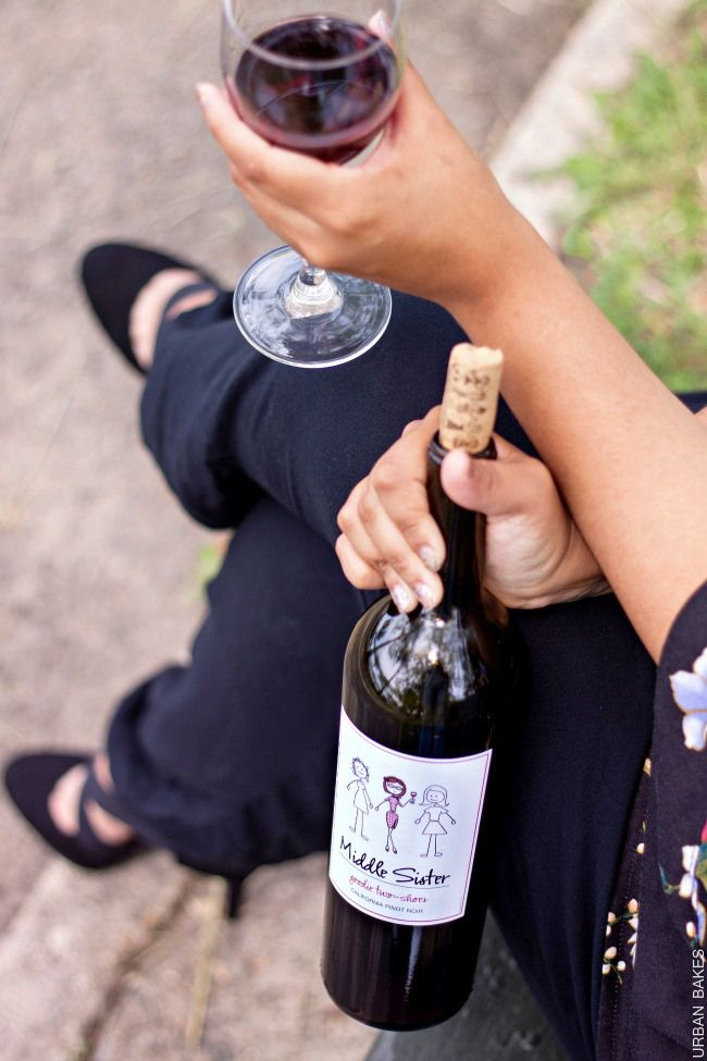 Middle Sister Wines - Goodie Two Shoes Pinot Noir   URBAN BAKES #MiddleSister #DropsofWisdom