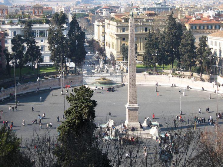 Roma, Piazza del Popolo, Obelisco Flaminio