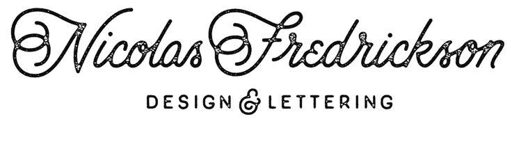Hand lettering of Omaha, Nebraskan graphic designer Nicolas Fredrickson.  Follow…