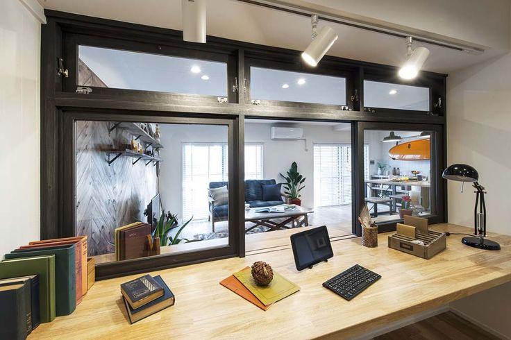RE住む、ベツダイ、カルフォルニア工務店、西海岸風、室内窓、造作家具