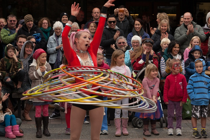 'Skye' entertains the crowds at the 2013 Festival of Colour, Wanaka, New Zealand