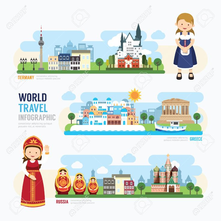 Travel And Outdoor Europe Landmark Template Design Infographic... Royalty Free Cliparts, Vectors, And Stock Illustration. Image 42761462.
