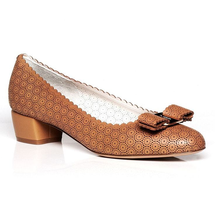 discount 100% original free shipping real Salvatore Ferragamo Perforated Vara Flats best sale for sale 0DWwsw