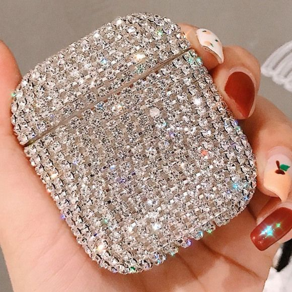 Customize Your Case Color! Rhinestone Crystal Texas AirPods Case with Clasp Keychain