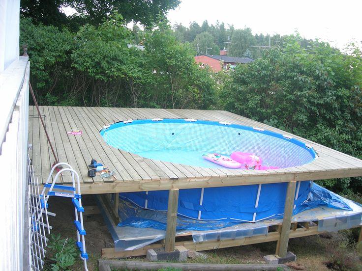 Resultado de imagen para poolkant i sten runt for Ideas para piscinas plasticas