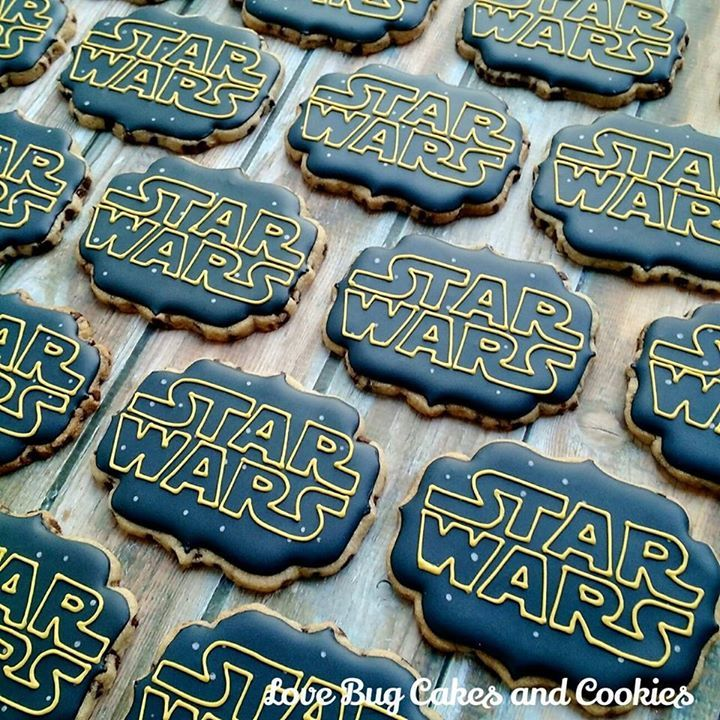 Chocolate Chip Star Wars Logo Cookies