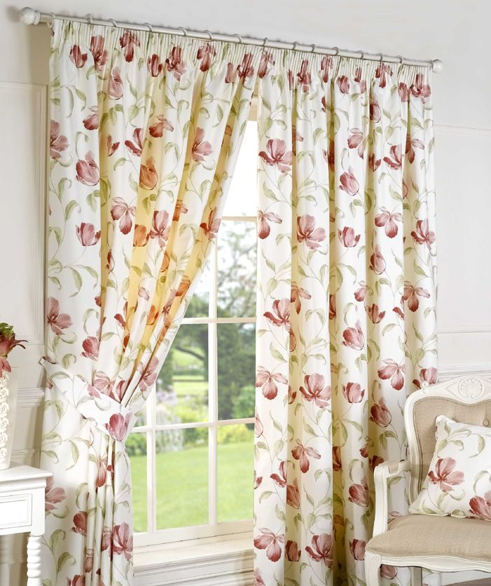 Ascot Pink Pencil Pleat Curtains by Curtains Online