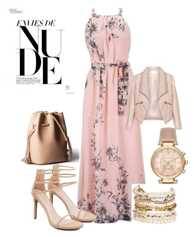 """Nude"" by kati-fagerstrom on Polyvore featuring Zizzi, Akira, Michael Kors and Panacea"