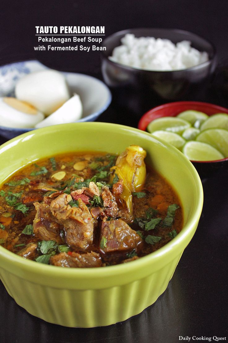 Tauto Pekalongan - Pekalongan Beef Soup with Fermented Soy Bean Dailycookingquest
