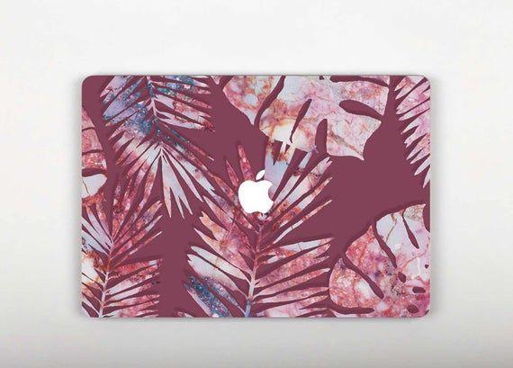 Pink Macbook 12 Skin Leaves Macbook Air 13 Decal Tropical Laptop Vinyl Decal Colorful Macbook Pro Re