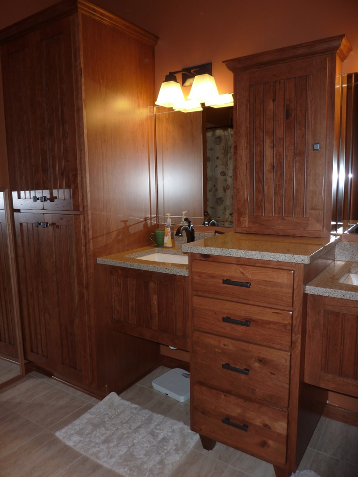 25 Best Ideas About Rustic Cherry Cabinets On Pinterest Rustic Master Bathroom Rustic