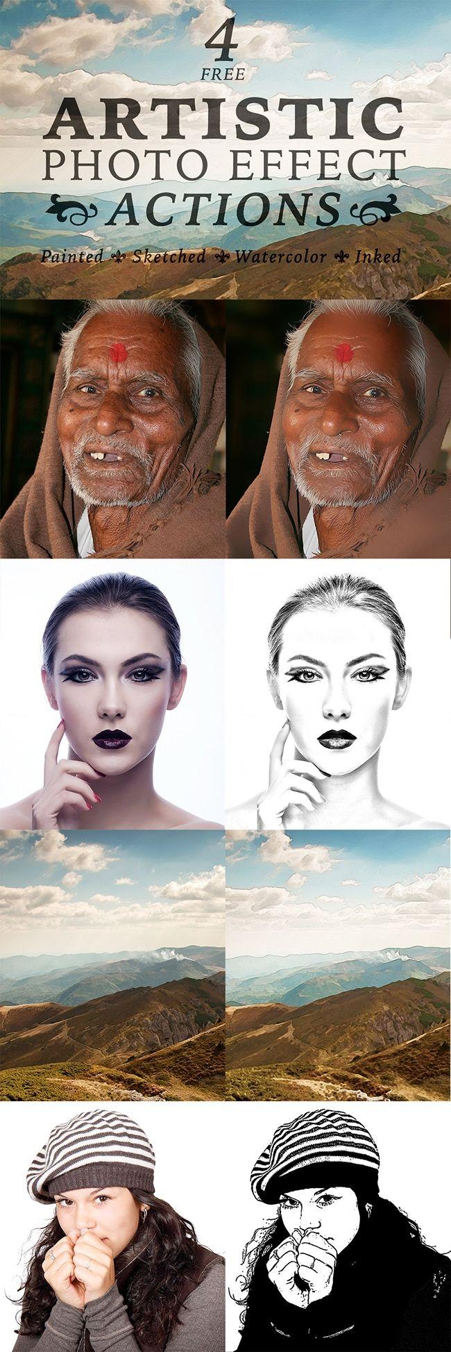 4 kostenlose & künstlerische Photoshop-Aktionen