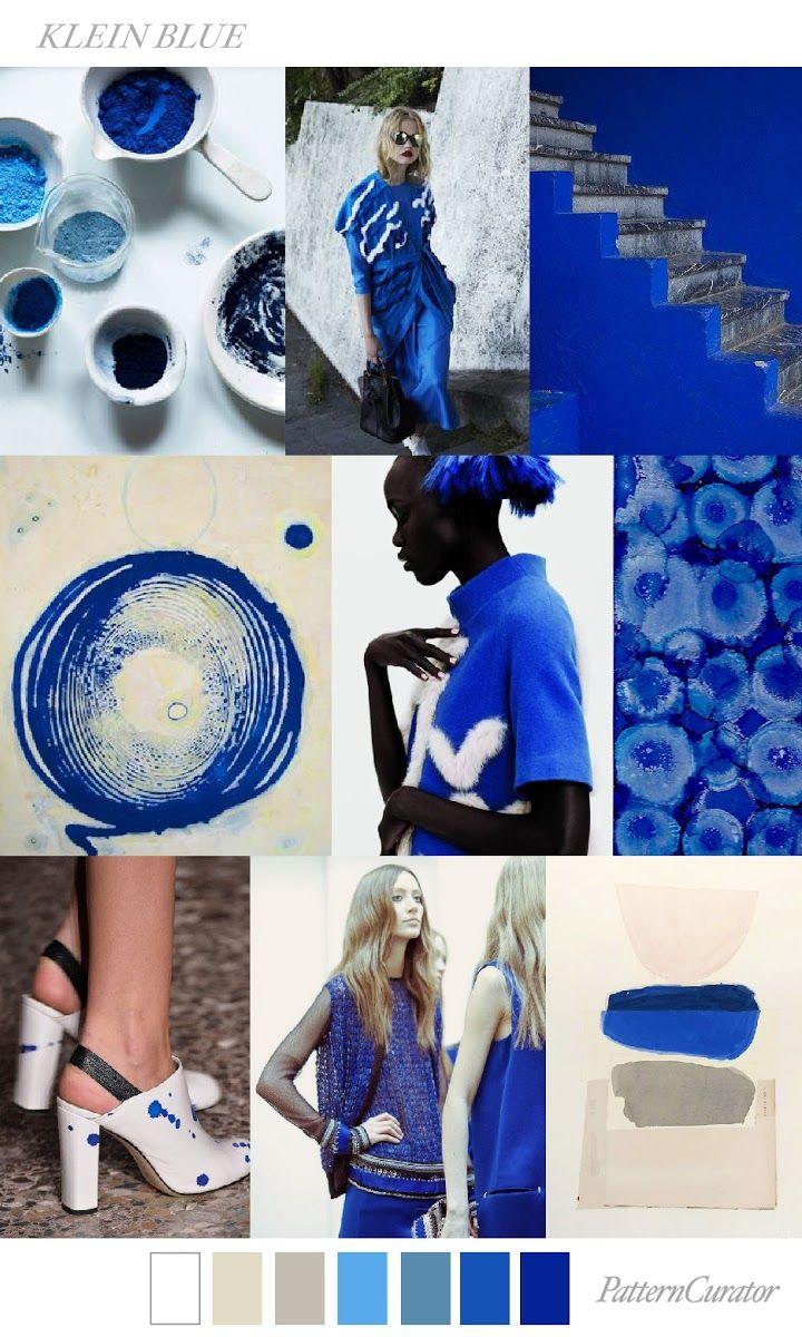 FASHION VIGNETTE: TRENDS // PATTERN CURATOR - COLOR + PRINT   KLEIN BLUE . S/S 2018