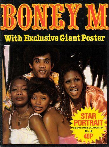 STAR PORTRAIT POSTER MAGAZINE - BONEY M