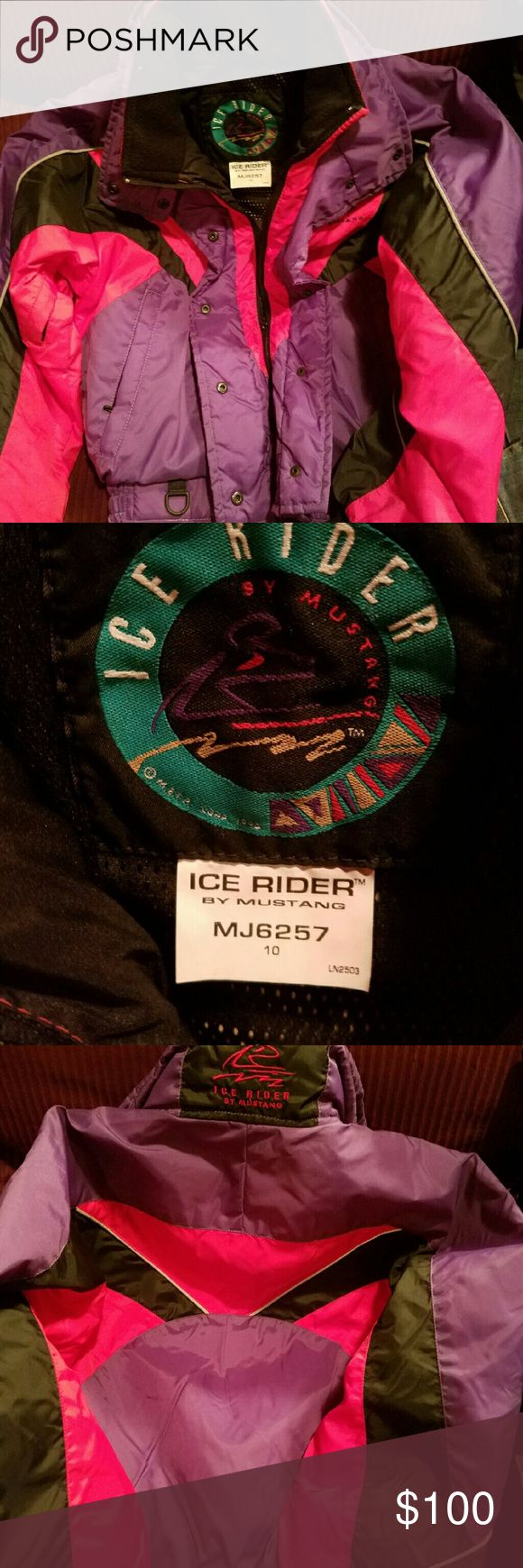 Ice rider Mustang snow suit Looks new life saving snow suit ice rider by Mustang mj6257 these were 300.00 and has floating vest inside mustang Jackets & Coats