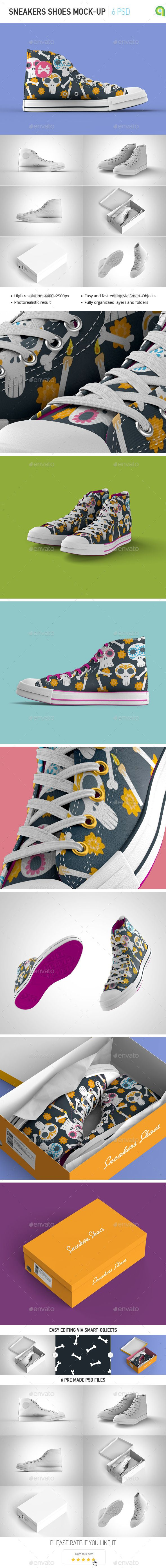 Sneakers Shoes Mock-up #design Download: http://graphicriver.net/item/sneakers-shoes-mockup/12703333?ref=ksioks