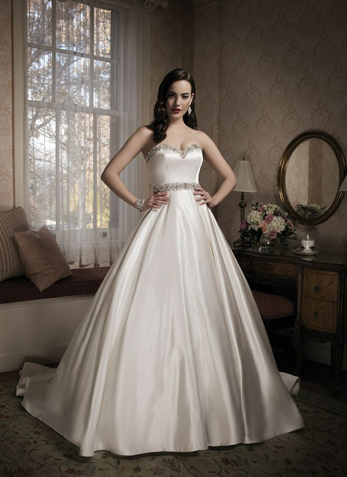 272 best ball gown wedding dresses images on pinterest for Satin princess wedding dress