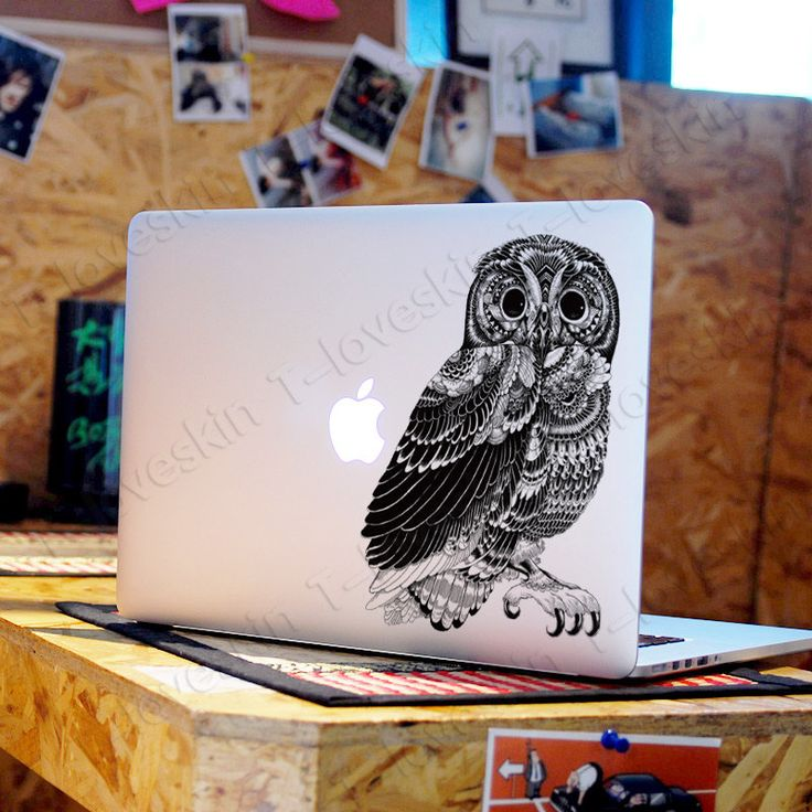 Owl decal for macbook pro air or ipad stickers macbook decals apple decal for macbook