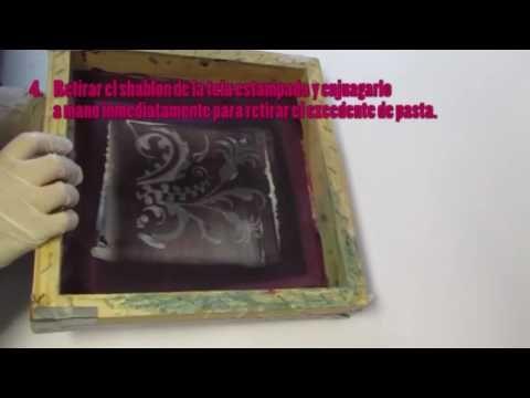 VIDEO PROCESO DE ESTAMPADO CON PAPEL FOIL- Experimentaciontectilartesanal.wordpress.com - YouTube