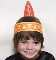 indian headbands for kids   pilgrim hats and indian headbands are a great craft for older kids to ...