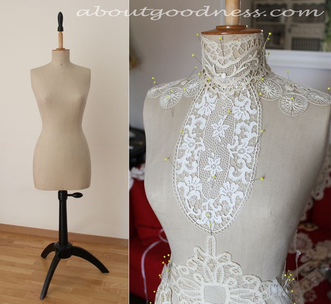 Vintage Lace and Mannequin as Shabby Chic Treasures | aboutGoodness.com