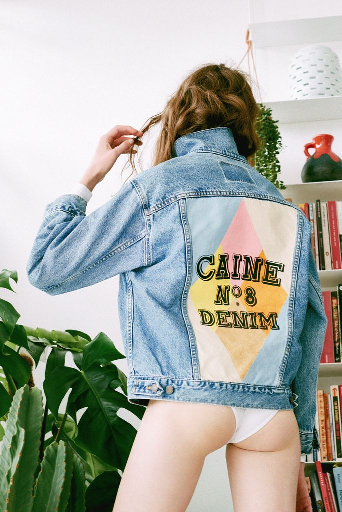 CAINE LONDON No. 8 HAND-PAINTED DENIM JACKET
