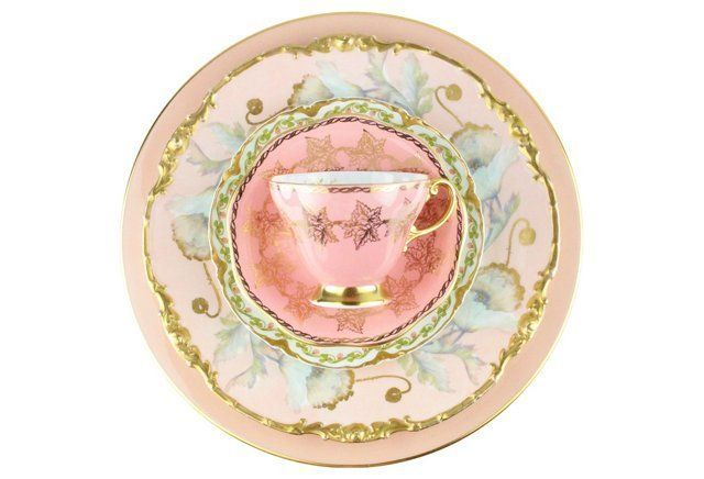 Blended Pink Dinnerware, S/5