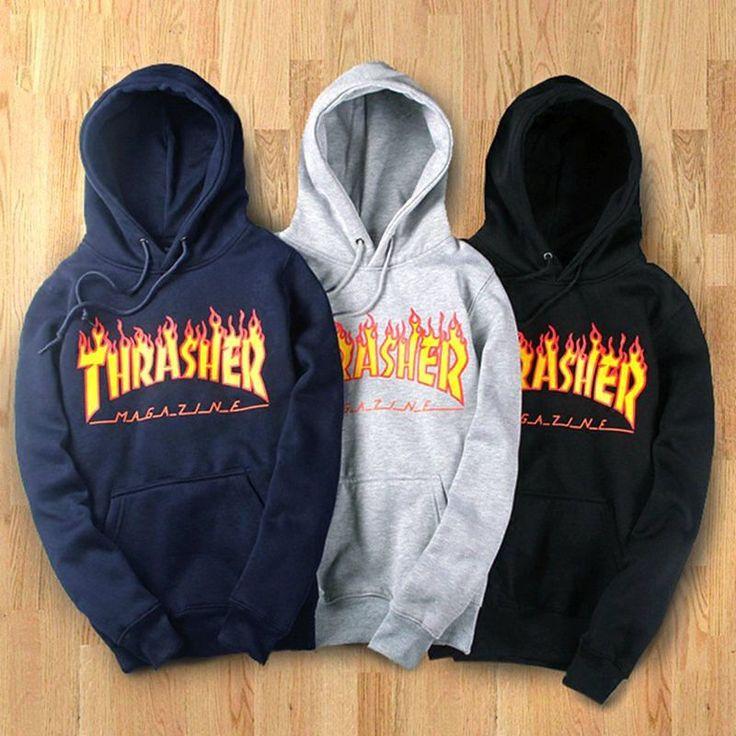 Hot Fashion Women Men Hoodie Sweater Hip-Hop Thrasher Sweatshirts