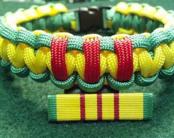 Вьетнамская война Кампания Лента служба / Медаль браслет выживание Paracord