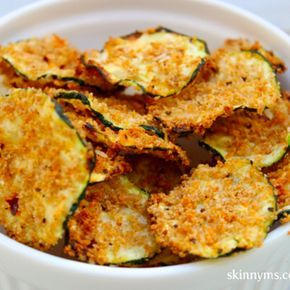 Oven Baked Zucchini Chips with parmesan and breadcrumbs
