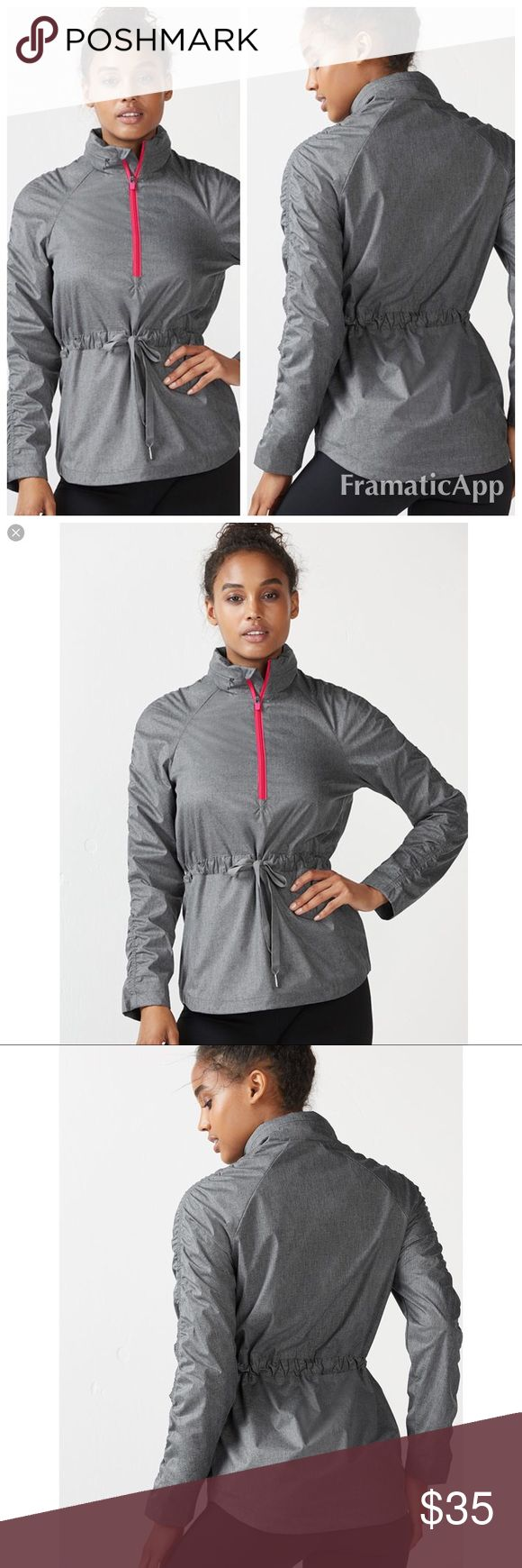 NEW Light Reflecting Water Resistant Jacket Light reflective fabric and hidden hood that's stashed within a zippered collar, 100% Polyester, Water-Resistant Ripstop Fabric, Mesh Lining, Invisible Side Zipper Pockets Fabletics Jackets & Coats