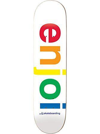 Enjoi White Spectrum 8.0 Skateboard Deck ❤ Enjoi Skateboards