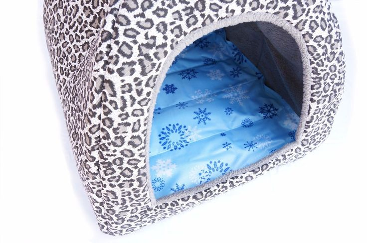 Canopy Mongolian Yurt Tent Bed for Cat Dog Small Animal with All-season Pads (M)