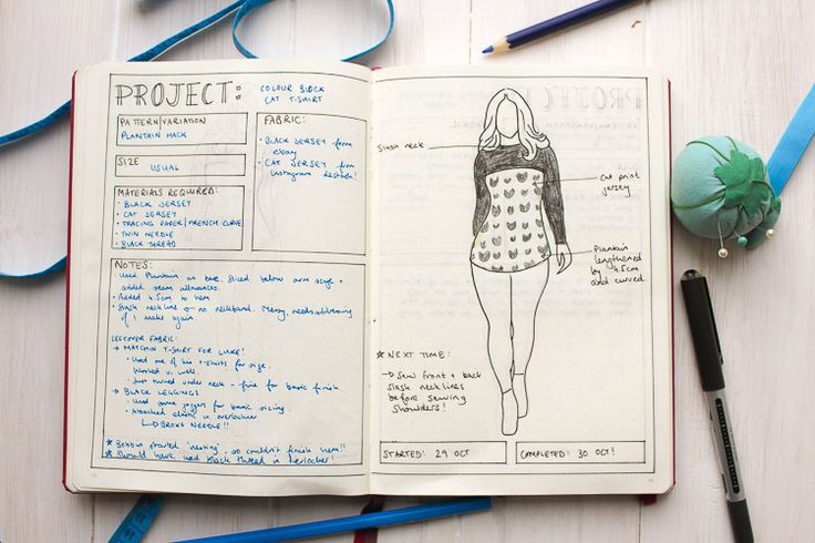 How I use my Bullet Journal for Sewing Planning (and more) - Sea Salt & Stitches