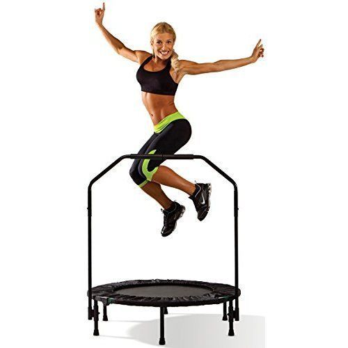 Cardio Fitness Trampoline with Bar Portable Trainer Folding Home Gym Equipment  #Marcy