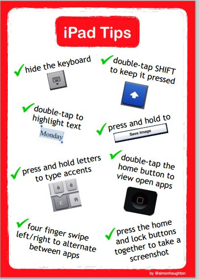 iPad Tips for teachers