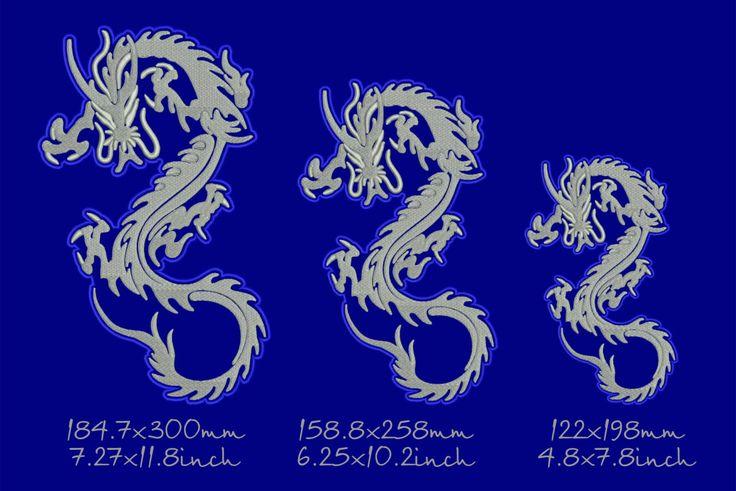 Китайский дракон, нашивка, дизайн машинной вышивки, моментальное скачивание by Tamarladesign on Etsy
