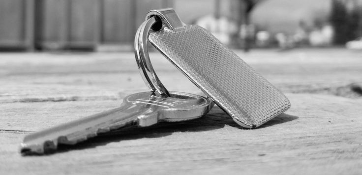 #black and white #close up #conceptual #focus #grey #key #keychain #material #metal #outdoors #pattern #security