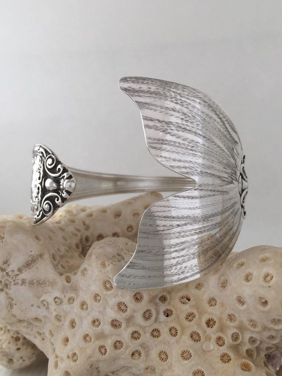 Extra Large Sterling Silver Mermaid Tail Spoon Bracelet