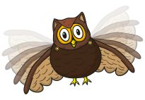 Fly, Owl, Fly! An Owl with Flapping Wings - Resources for children in pre-K and kindergarten from KiGaPortal.com