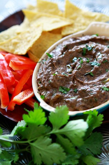 black bean hummus - http://www.simplebites.net/black-bean-hummus-with-lime-and-cumin/