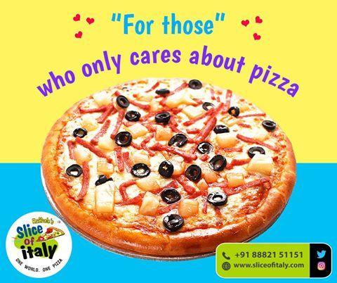 Come to us if you're always in a mood to taste smoky hot pizzas. #SliceofItaly #ItalianFood #Restaurant #Pizza #Pasta #Cake #HomeDelivery #TakeAway #NewDelhi #Delhi #DelhiNCR #NCR #VasantVihar #ShahpurJat #LodhiColony #Janakpuri #OkhlaPhase2 #GTBNagar #MayurViharPhase2 #PrashantVihar #DilshadGarden #Indirapuram #Sector12 #Dwarka #Gurgaon #Sector15 #Gurugram #Noida #Sector51