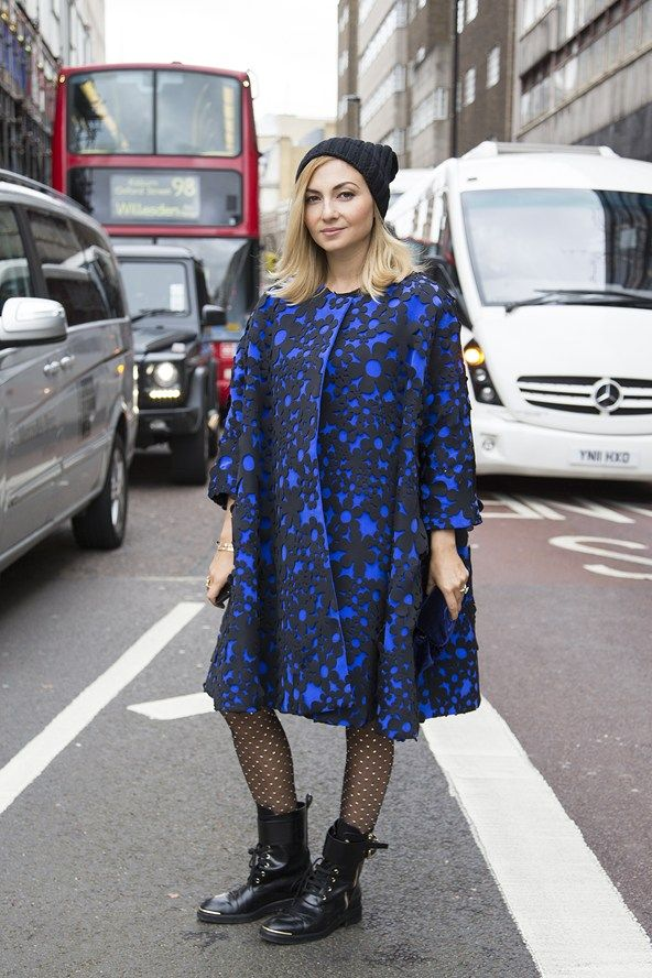 Editor Nasiba Adilova is taking on the streets of #LFW with Louis Vuitton boots (Photography by Dvora for www.vogue.co.uk)
