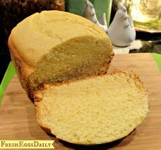 Sweet cornbread recipe for bread machine. Similar to Jiffy mix, but waaaay better for you! I call this my Fantasy Bread. Since I pinned the recipe it's gone a bit viral, being repinned numerous times. Enjoy.
